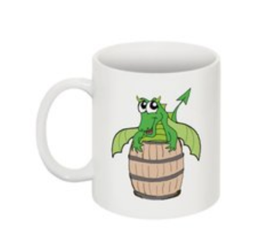 Little Green Dragon Mug