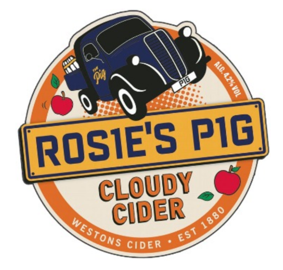 Rosies Pig medium cider 4.2% (2 pint carryout)