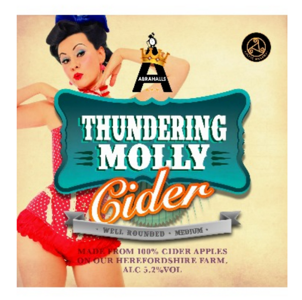 Abrahall's. Thundering Molly medium cider 5.2% (2 pint carryout)