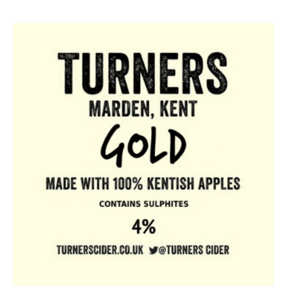 Turners Gold Cider 4.0% (2 pint carryout)