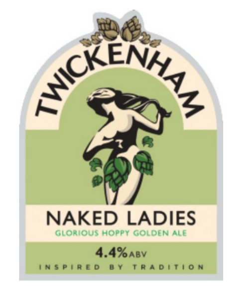 Twickenham. Naked Ladies. Golden ale 4.4% (cask ale)