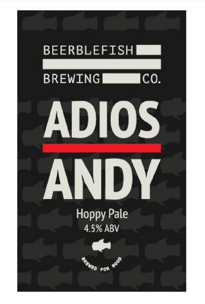 Beerblefish. Adios Andy juicy hoppy pale 4.5% (2 pint carryout)