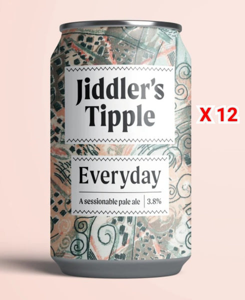 Jiddlers Tipple. Everyday. 3.8% (12 x 330ml cans)