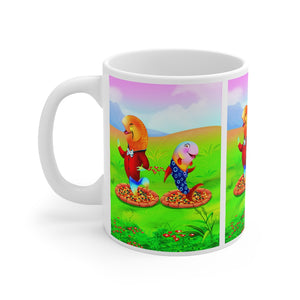 BobbyShop Aunt and Uncle Chovie Ceramic Mug 11oz Kitty And Kat Adventure Series Book 5 Pet Peeves