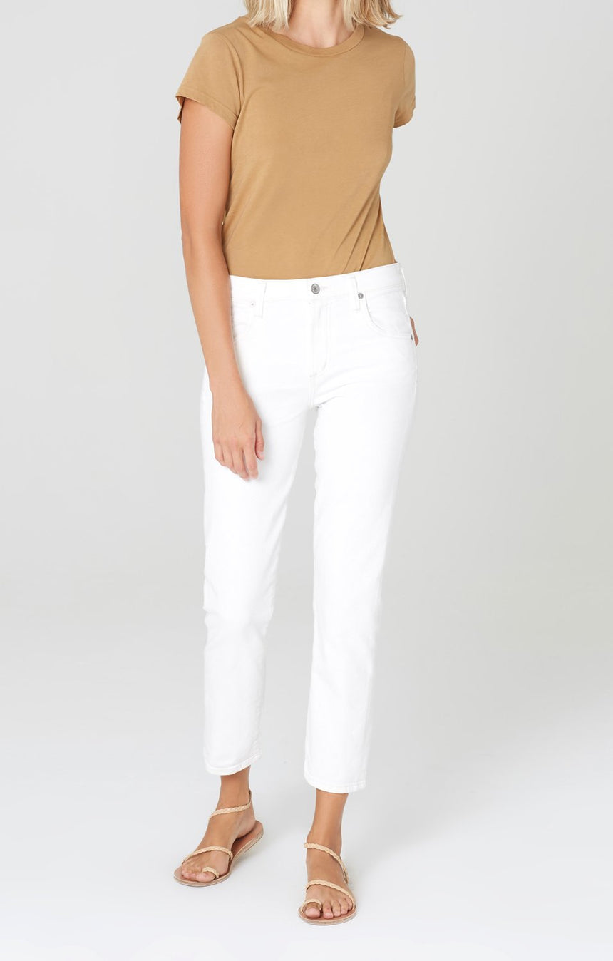 Elsa Crop Mid Rise Slim Fit
