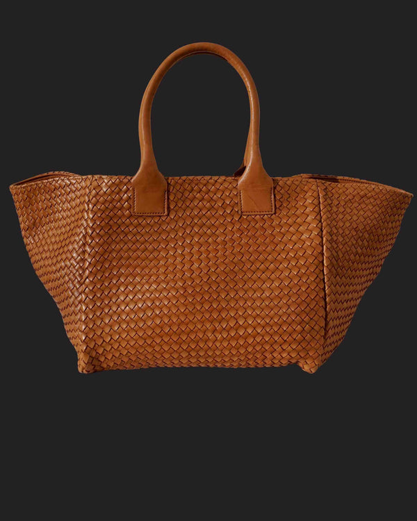 Shoulder Bag Tressé Cognac Exclusivité