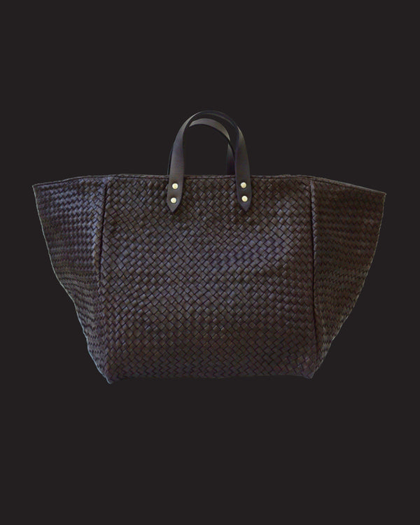Le Sac Tressé Dark Brown