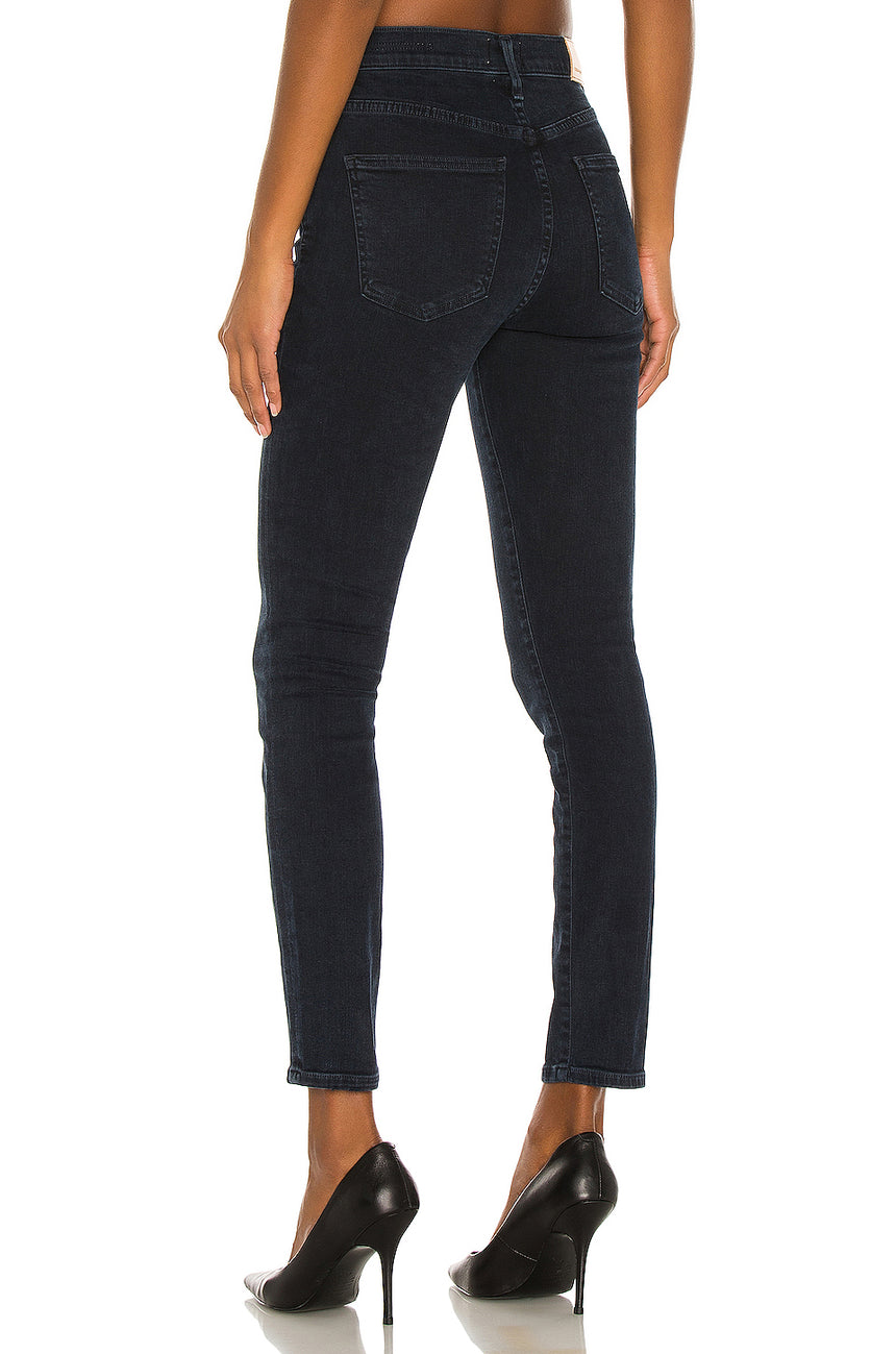 Rocket Crop Mid Rise Skinny Fit