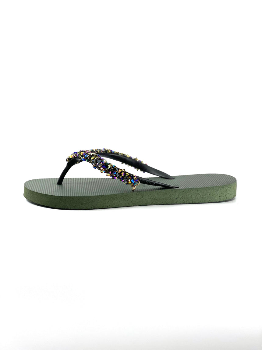 Classic Aby Flip Flops Army Green