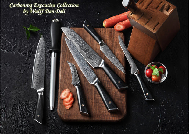 Carbonroq Executive 7 Piece Japanese Knife Set