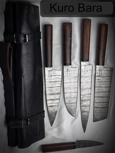Carbonroq Kuro Bara 5 Piece Authentic Japanese Knife Set