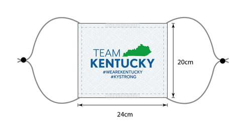 "Premium + Anti-Bacterial ""Team Kentucky"" Face Mask - 230G Anti-Bacterial Polyester"