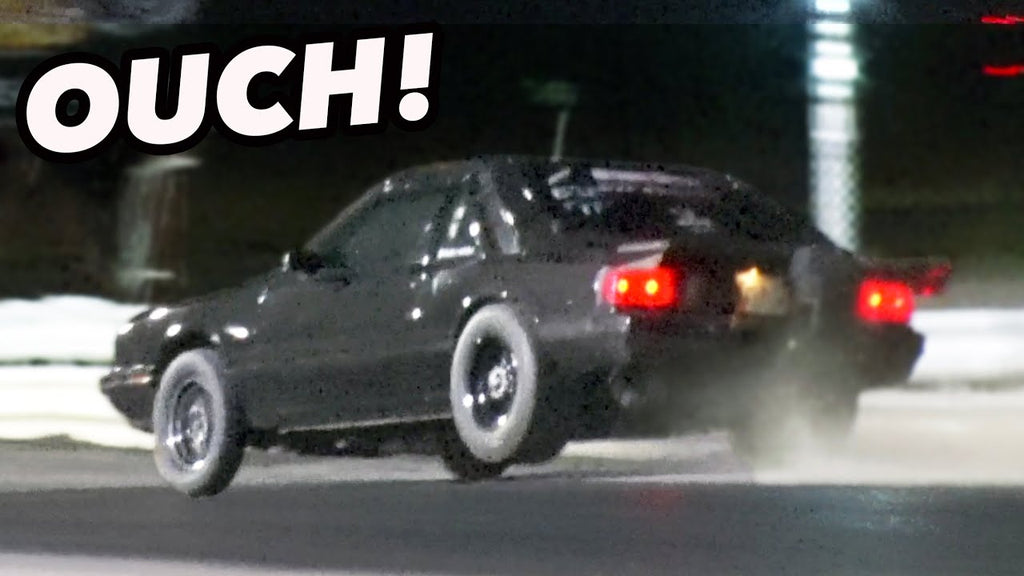 2JZ Foxbody SMACKS Both Walls ( Only Minor Damage!)