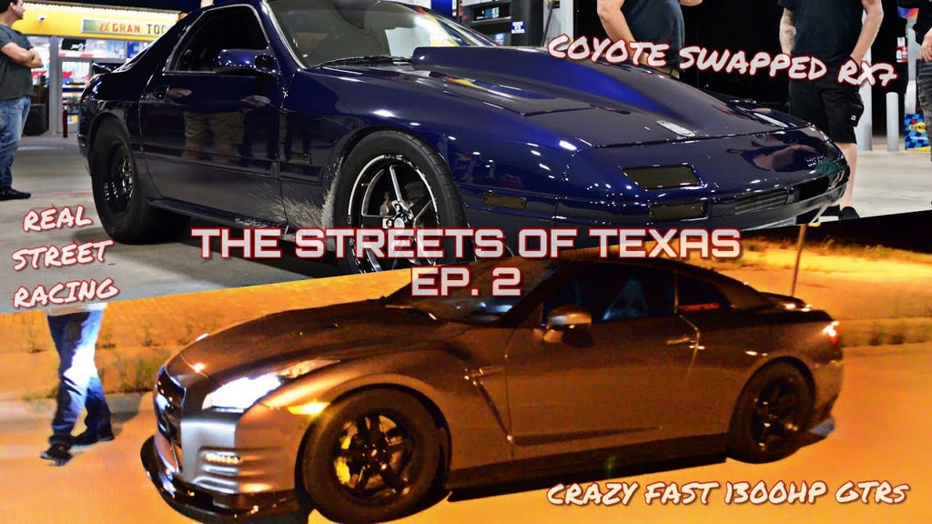 SICKEST 900HP RX7 EVER!? (TURBO COYOTE SWAP) + 1300HP GTRs TEAR UP THE STREETS! - TX2K18