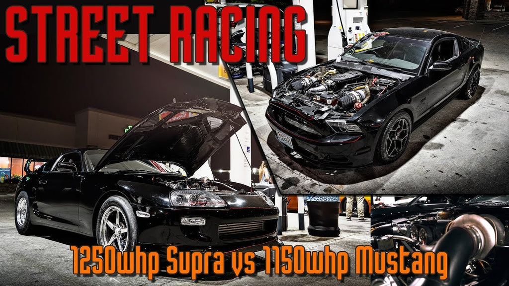 1250whp Supra vs 1150whp Coyote Mustang, BMW S1000rr and Kawasaki Zx14