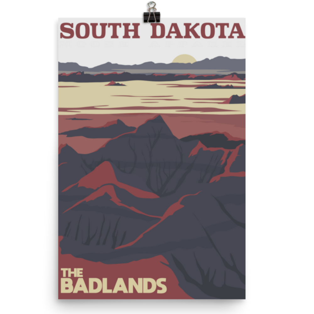 Load image into Gallery viewer, The Bandlands South Dakota Poster