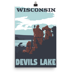 Devil's Lake Wisconsin Poster
