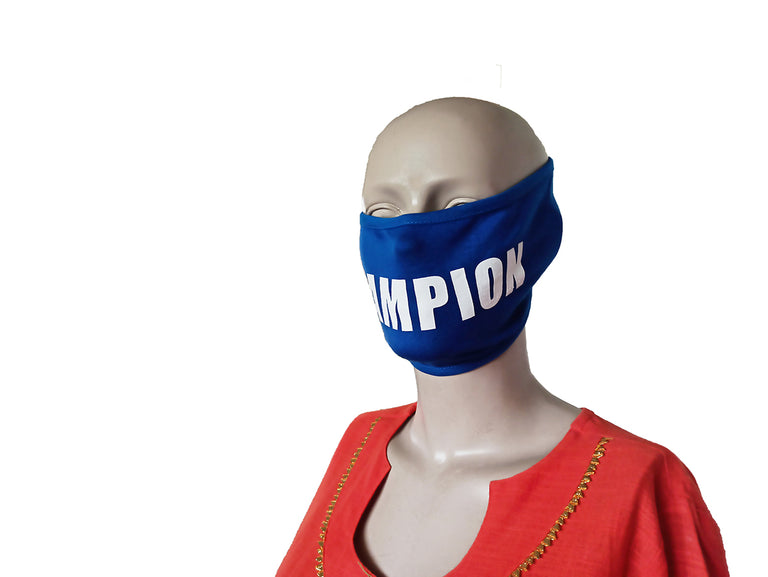 Champion Blue Mask (Pack Of 3)