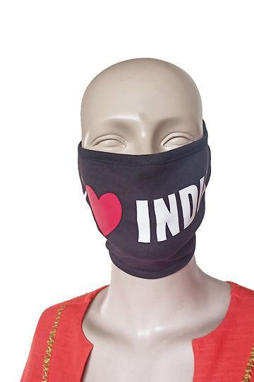 India Black mask (Pack Of 3)