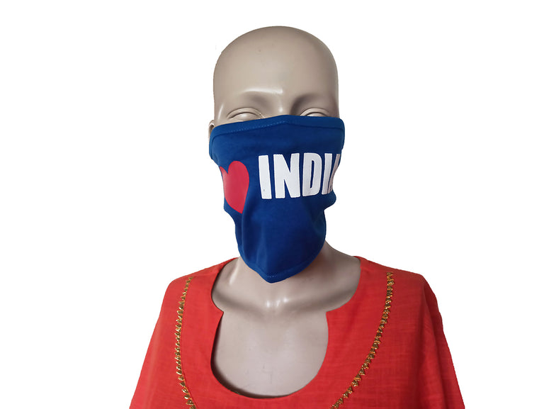 India Blue Mask (Pack Of 3)