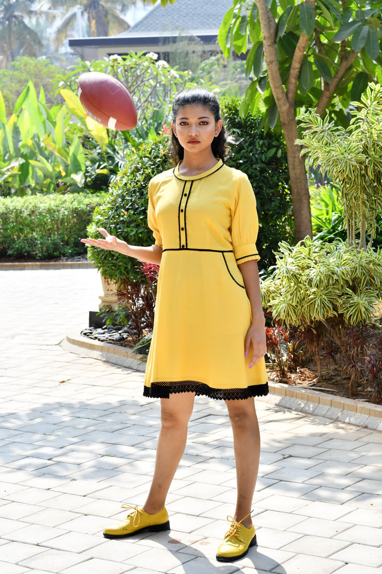 Lemon Yellow Dress