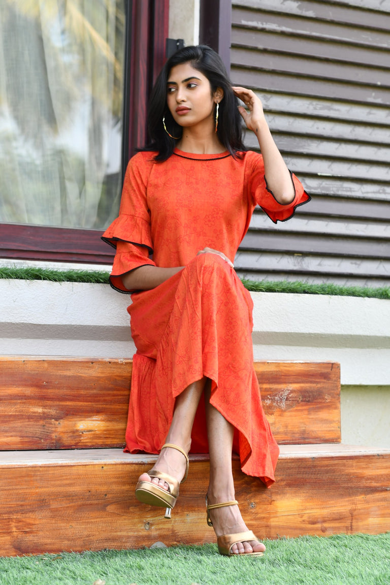 Rust Color Dress