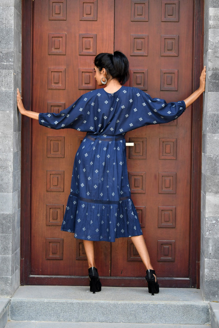 Indigo Single Frill Dress