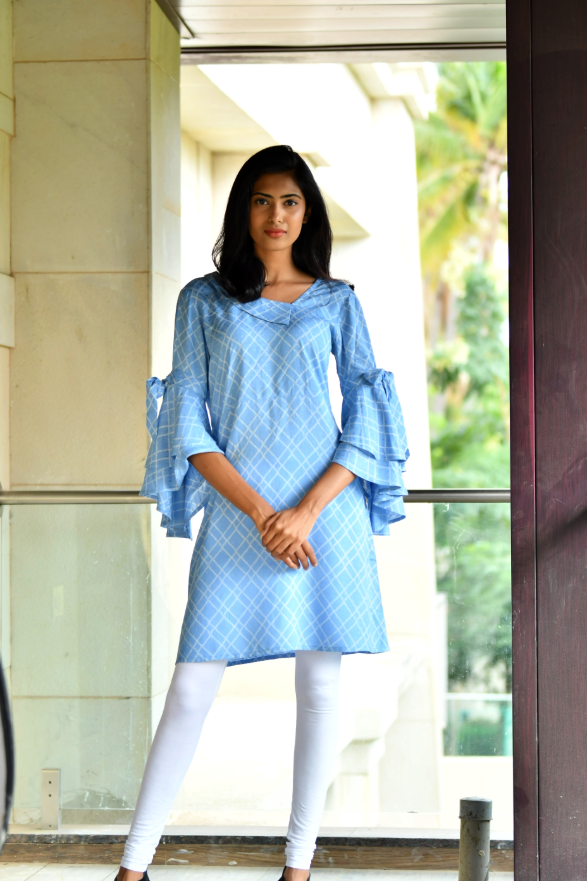 Light Sky Blue Comfy Dress