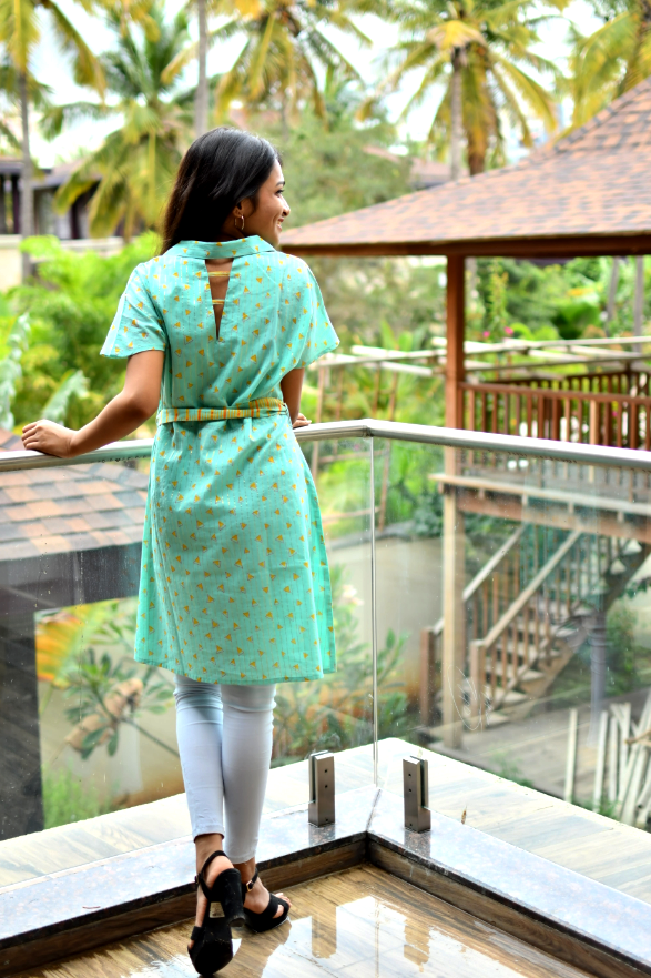Aaboli Pastel Green Dress