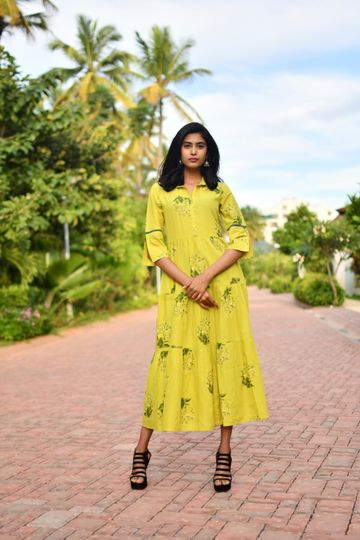 Aaboli Marigold Dress