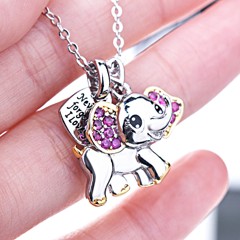 Forever Love Cute Elephant Necklace