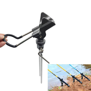 Adjustable Stainless Steel Fishing Spinning Rod Pole Holder Ground Insert Support