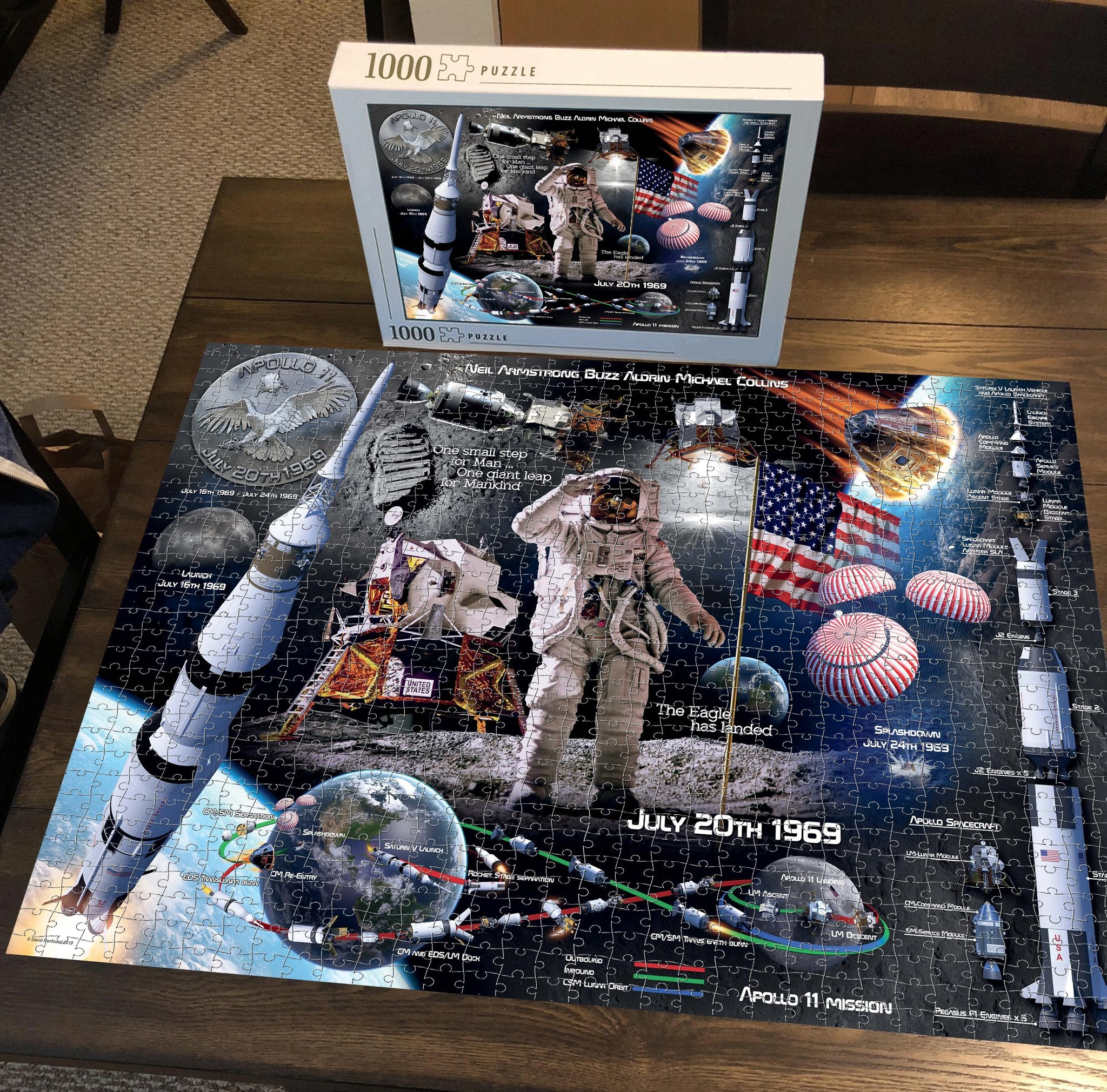 Moon Landing 50th Anniversary 1000 Piece Jigsaw Puzzle