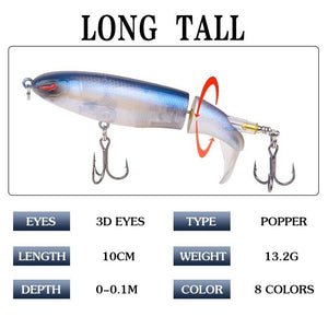 Floating rotating tail lures hard bait (Whopper Plopper)