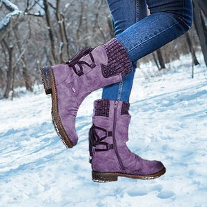 Winter Warm Back Lace Up Boots(50% OFF,ONLY TODAY)