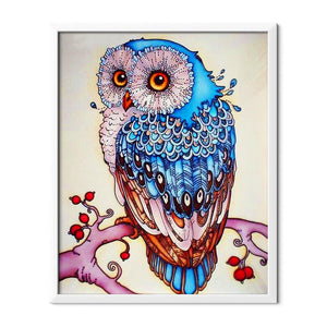 Blue Owl Diamond Painting