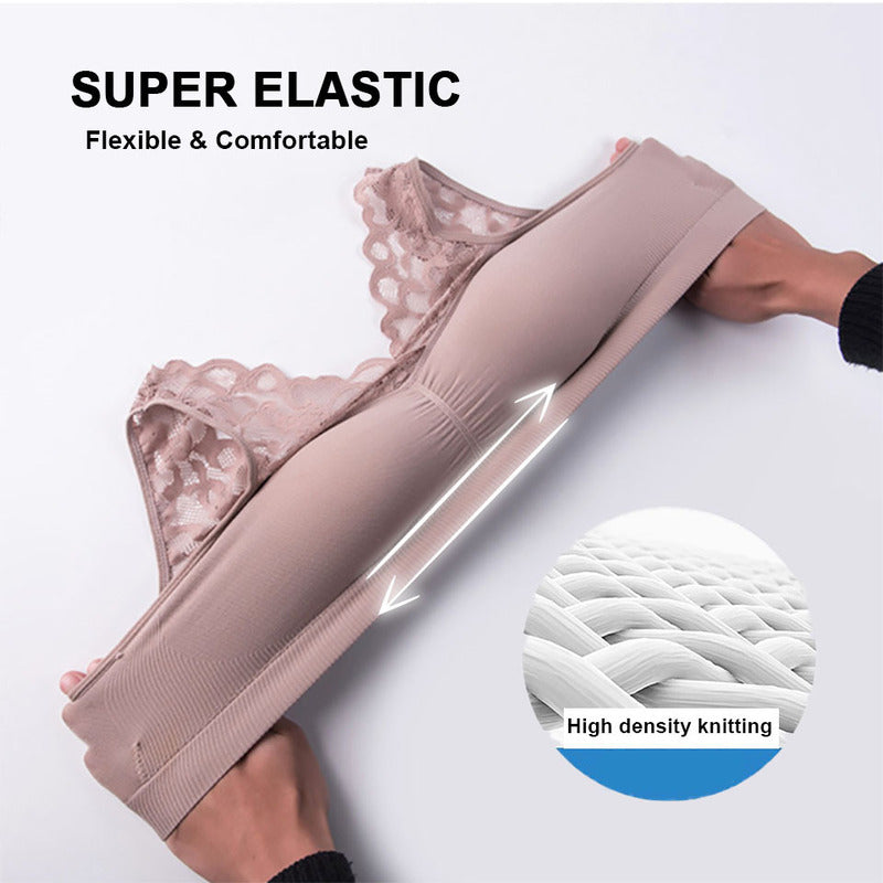( $19.99 Today Only )-Push Up Comfort Super Elastic Breathable Lace Bra