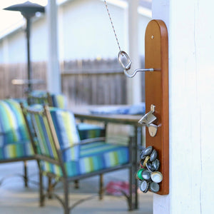 Hook and Ring Game with Bottle Opener and Magnetic Bottle Cap Catch