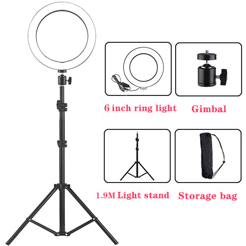 16cm/6inch Ring Light LED Selfie Lamp