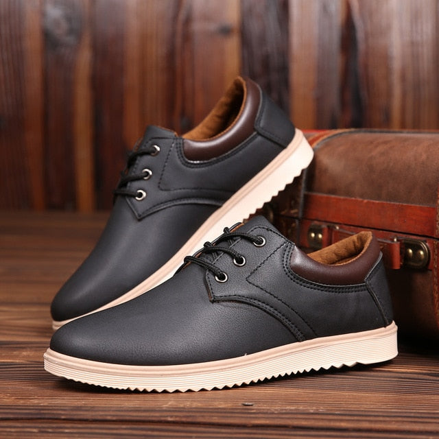 New men's flat oxford shoes fashion design with leather shoes
