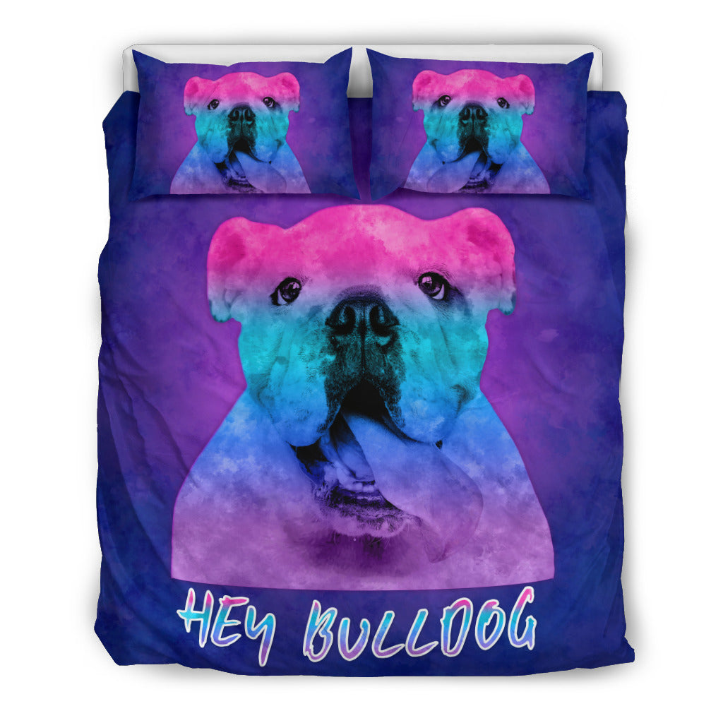 Hey Bulldog Bedding Set for Lovers of Bulldogs