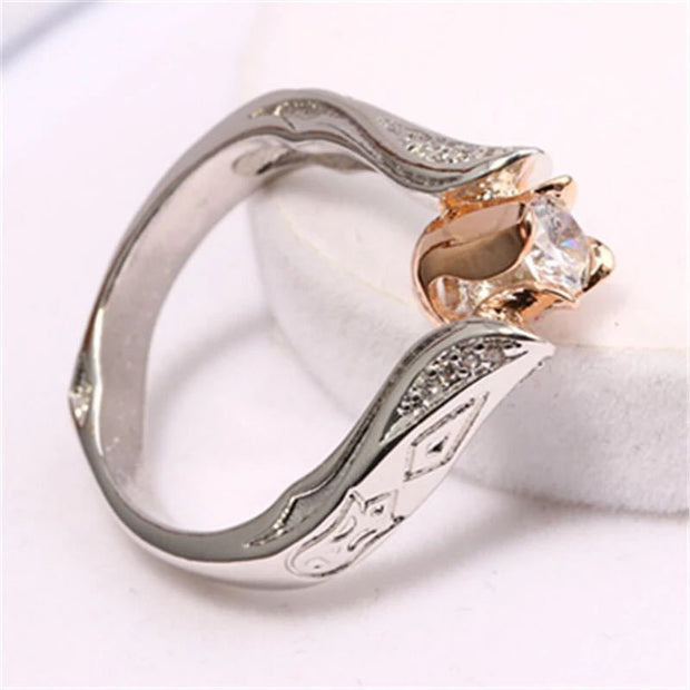 Flower Separation Simulation Diamond Ring