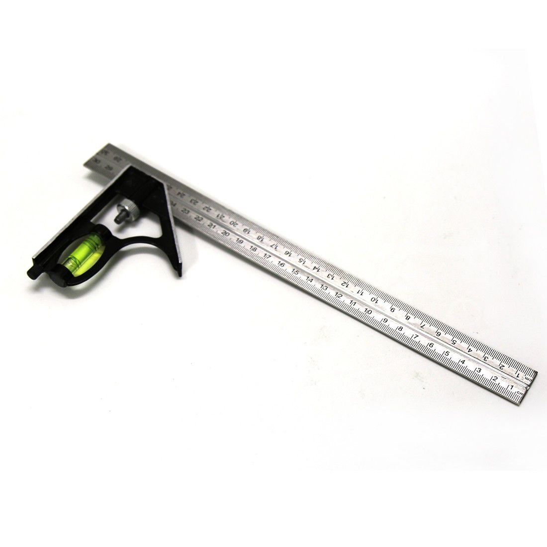"ADJUSTABLE 300mm (12"") ENGINEERS COMBINATION TRY SQUARE SET RIGHT ANGLE"