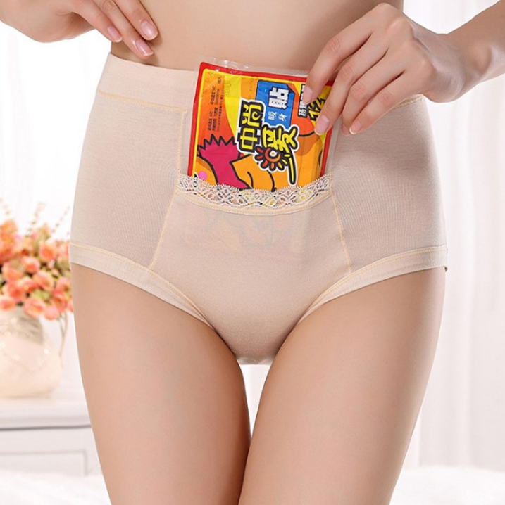 Free Shipping Menstrual period Bamboo fiber Womens underwear Long waisted side leakage proof pocket Health pants L-XXXL R1