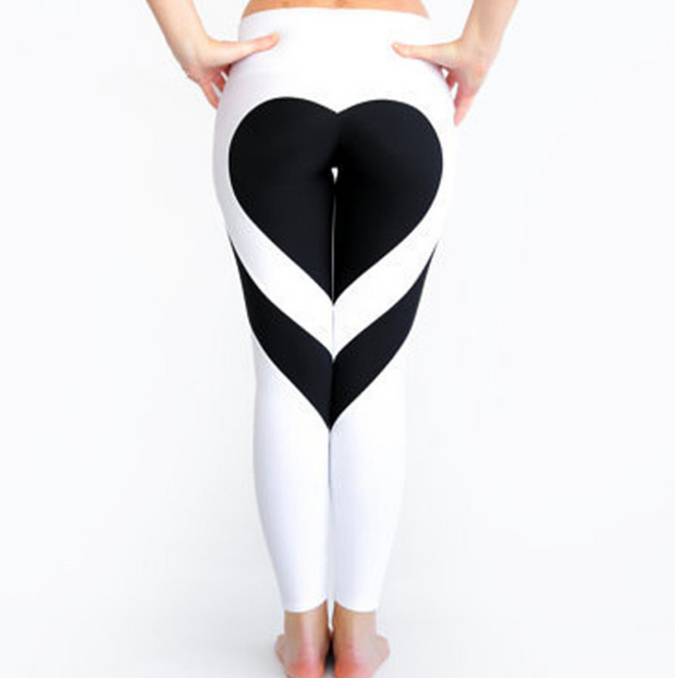 Buttock love bang color splicing yoga gym leggings