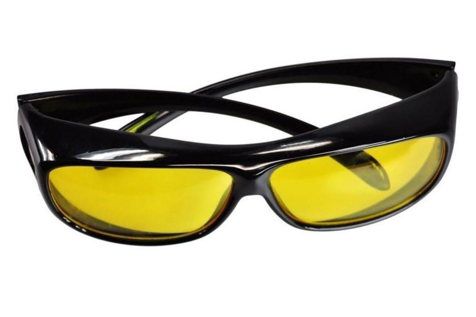 NIGHT VISION ANTI-GLARE WRAPAROUND GLASSES