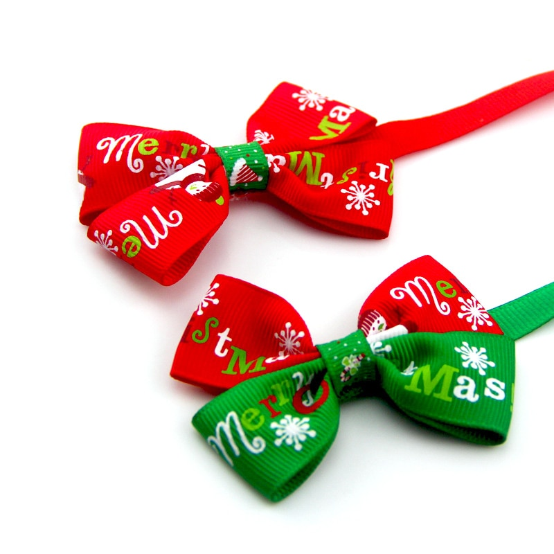 Christmas Pet Bow Collar