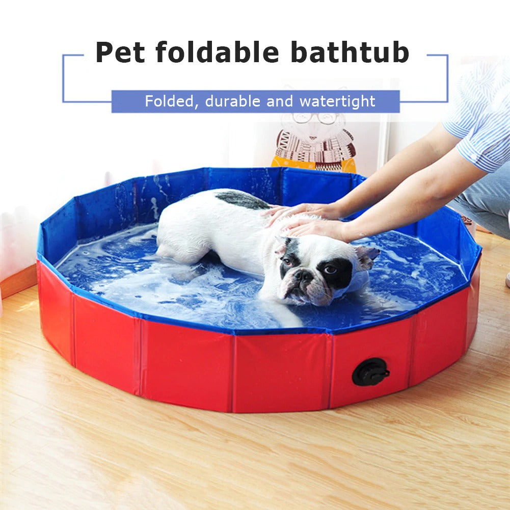 Indoor Collapsible Bathing Pool for Dogs Cats Kids