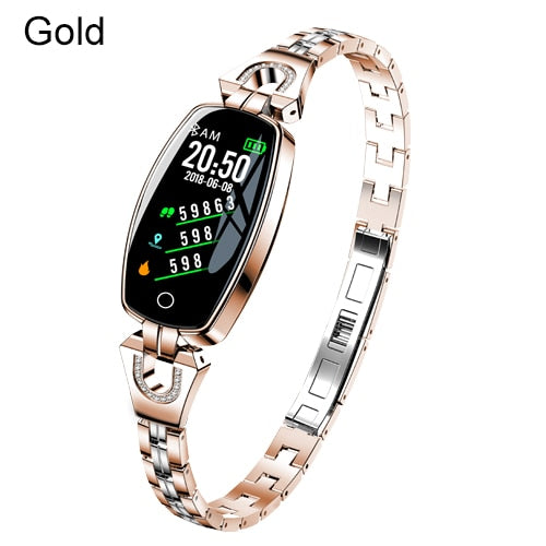 Fashion Women Smart Watch - Heart Rate Blood Pressure Monitor Pedometer Fitness Tracker Waterproof Smartwatch