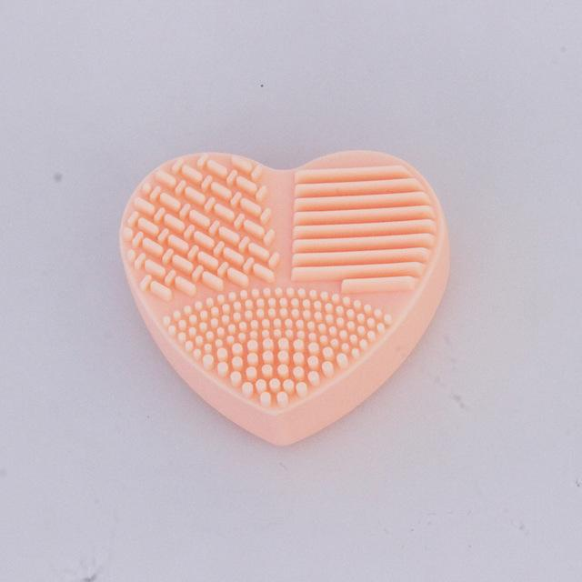 Heart Shape Makeup Brush Cleaning